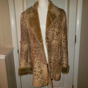 Leopard Print Winter Coat - Machine Washable!